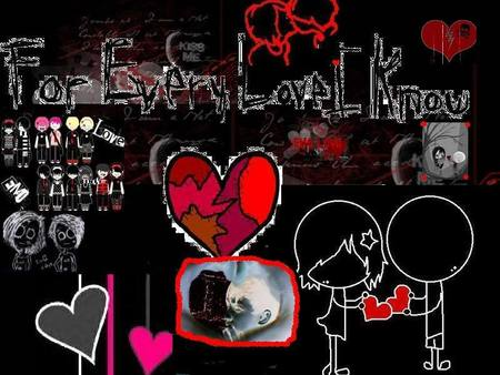 emo lovers background. Graffiti Emo Love Design