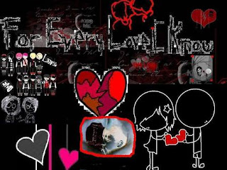 graffiti emo love design