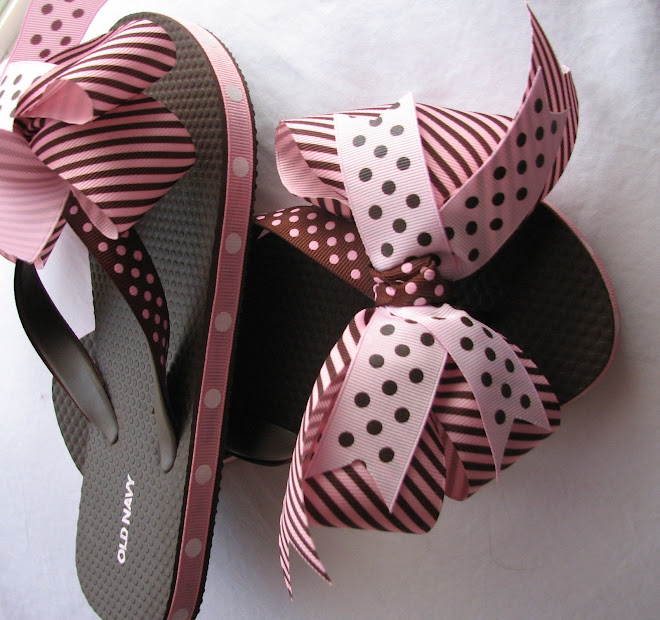 Pink and Brown Flip Flop