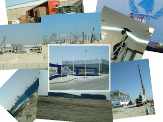 Dubai Humanitarian City in construction - click for full size view