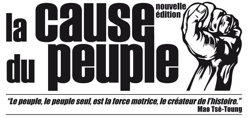 La Cause du Peuple - le journal du FRAP