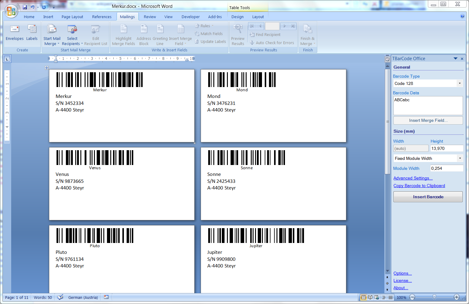 how to print label in word - Template