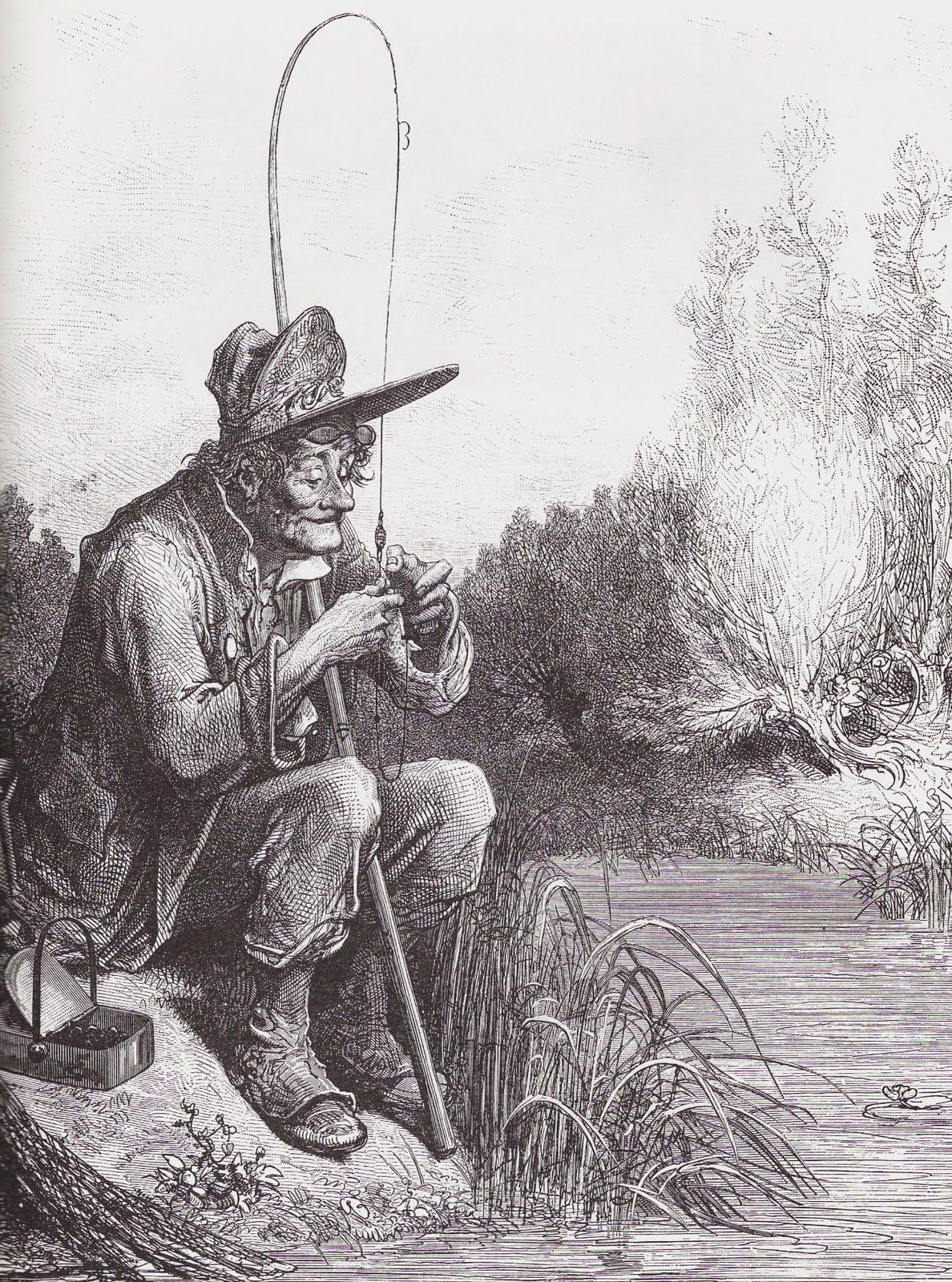 Le petit poisson et le pêcheur - Jean de La Fontaine Fable,p%C3%AAcheur+...