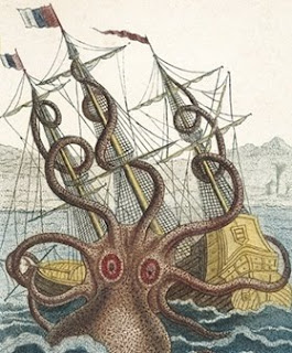 giant octopus, giant squid, big octopus, octopus ship