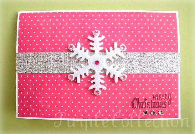 Christmas Cards, snowflakes, pink