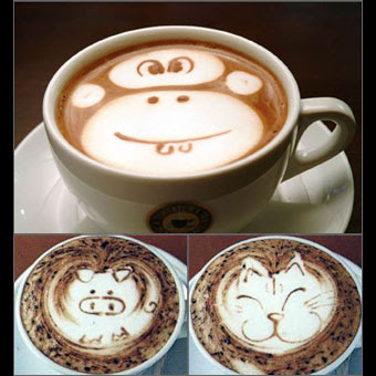 Latte art Animals