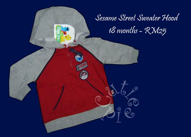 Sesame Street Sweater Hood
