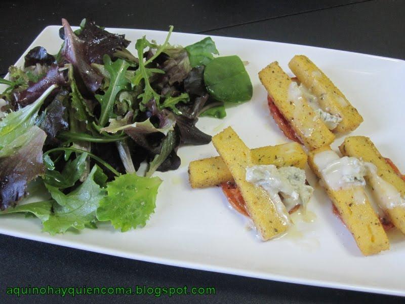 Cocinar Polenta | Aqui No Hay Quien Coma Polenta Frita Con Tomates Y Gorgonzola