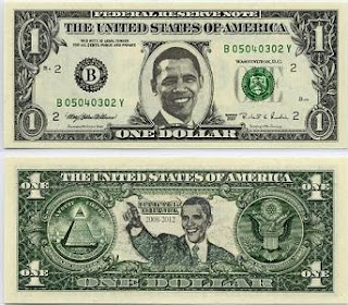 Gold vs Paper Money Obama Dollar