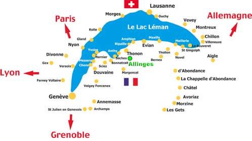 carte du lac lemanicccccc