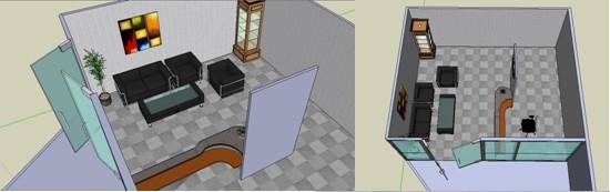 Projek: ubahsuai ruang menunggu pejabat