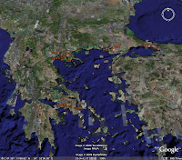 GPS map, GREECE