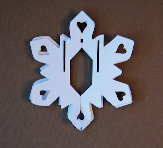 sliceform snowflake