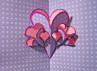 valentine fractal pop up card