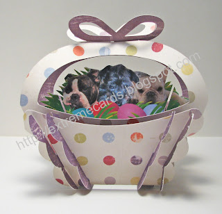 sliceform easter basket