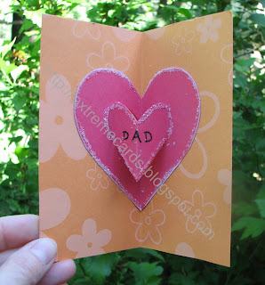 father's day pop up card