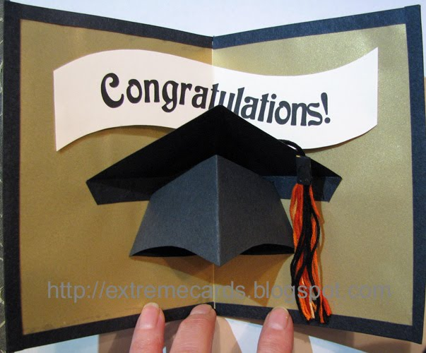 Extreme Cards And Papercrafting: Graduation Cap Pop Up Card Tutorial