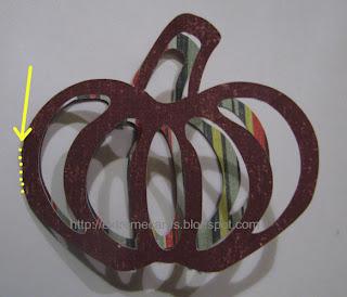 pumpkin paper chain wreath