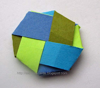 woven paper circle
