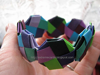 woven paper bracelet