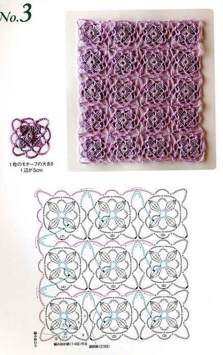Bonitos puntos en crochet con patrones : cositasconmesh
