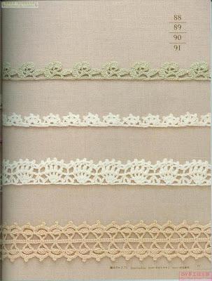 Gráficos de puntillas a crochet