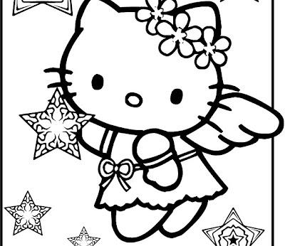 Hello Kitty navideño para colorear o para moldes ...