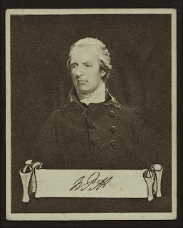 William Pitt the younger, de una serie de portadas para cigarrillos 'Celebrities and their autographs'de la colección George Arents, extraído de www.nypl.org