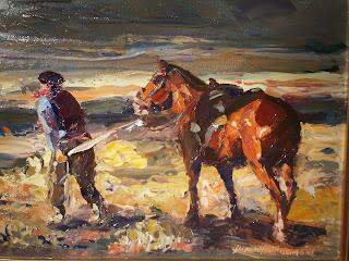 'Antes de la tormenta',óleo de Darío Mastrosimone, tomado de dariomastrosimone.com.ar