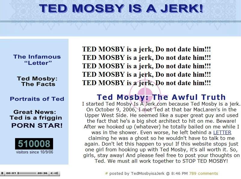 el legendario blog de barney  ted mosby is a jerk