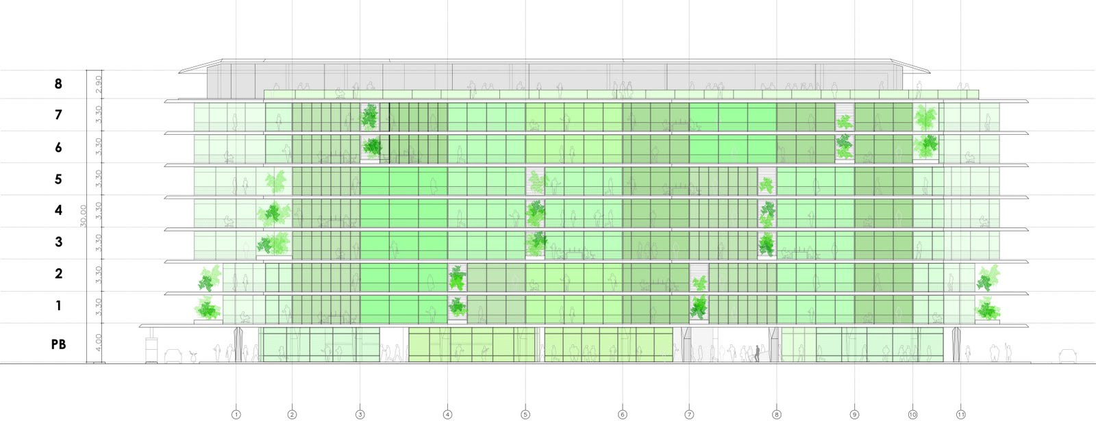 Oda oficina de arquitectura vectorverde edificio de - Oficinas de arquitectura ...