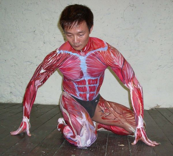 Educational use of body painting