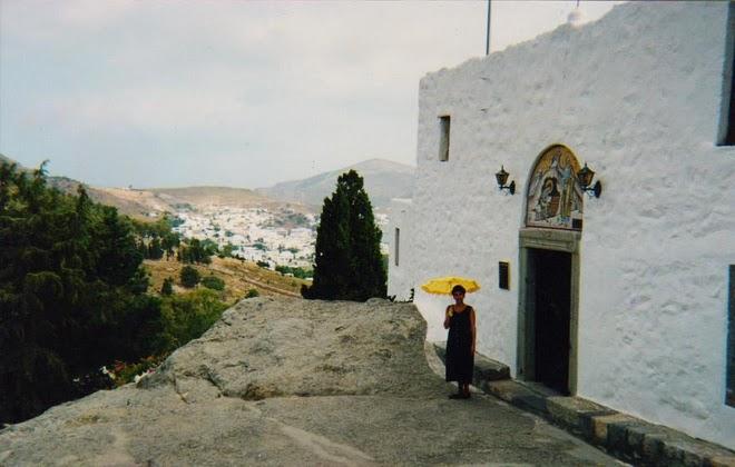Ilha de Patmos, Grécia, Separada pelo mar Egeu da Turquia que está em frente.