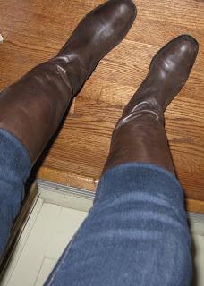 Tall Flat Boots Banana Republic @ Chasing Davies