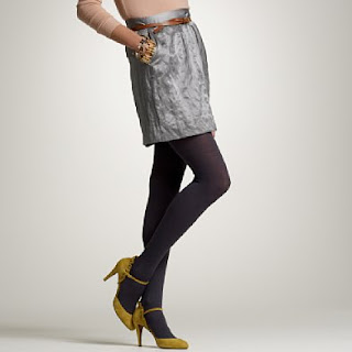 Yellow shoes with Grey tights