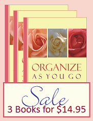 Organize As You Go SALE = 3 books for the price of one
