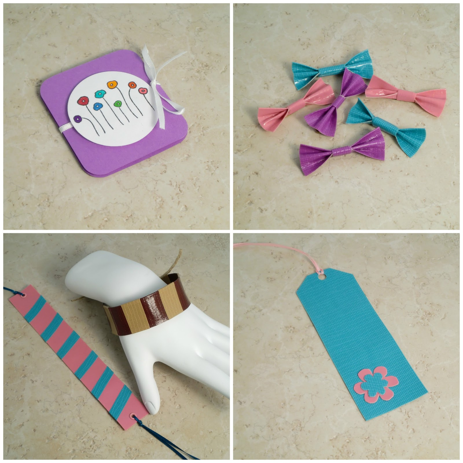 A vegas girl at heart duct tape crafts and a mini for Duct tape bookmark ideas