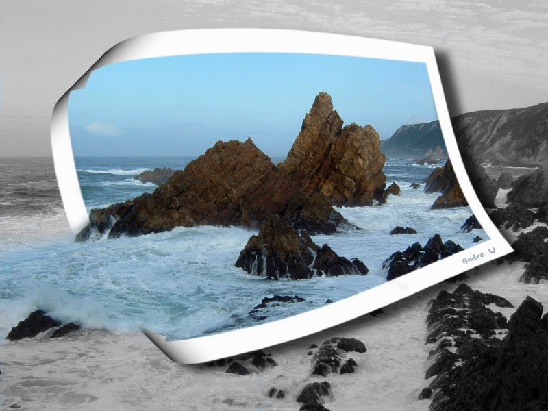 Photoshop effects - surf scenery, natural in graphic, sea wallpaper