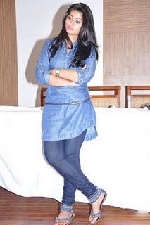 Sneka in Denim Jeans and Denim Shirt