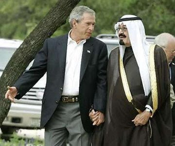 Doble rasero ... made in USA Saudi+king+abdullah+with+Bush