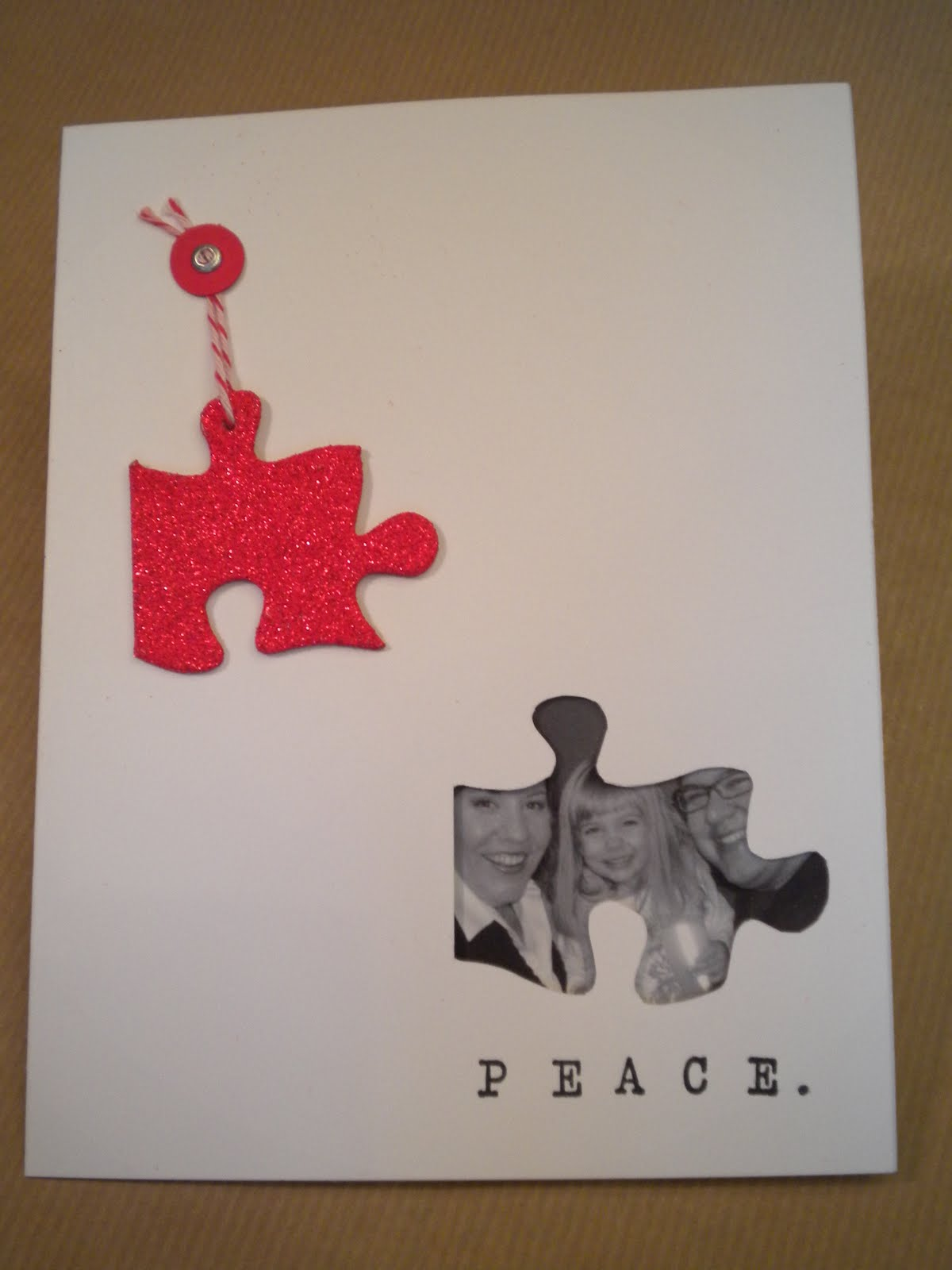 yet another powers christmas card as you can see we used a play on words with a peace theme see the puzzle piece enjoy