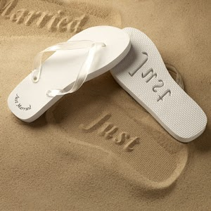a party style just married flip flops. Black Bedroom Furniture Sets. Home Design Ideas