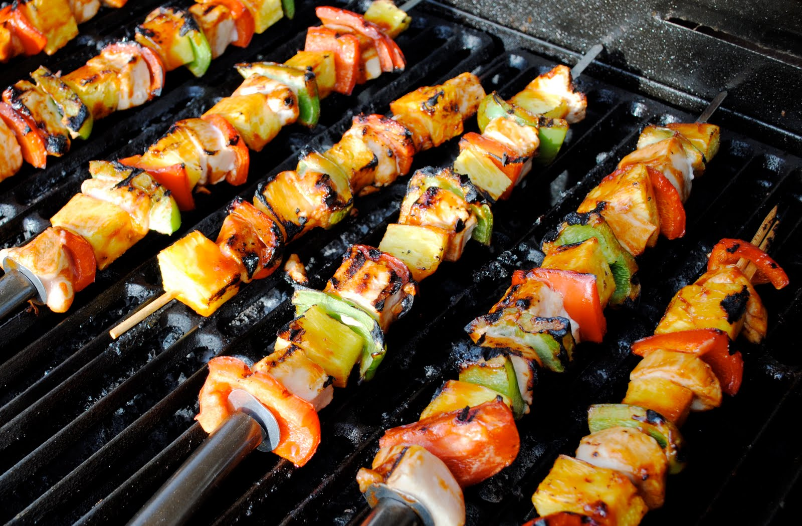 Sweet BBQ Chicken Kabobs | The Sisters Cafe