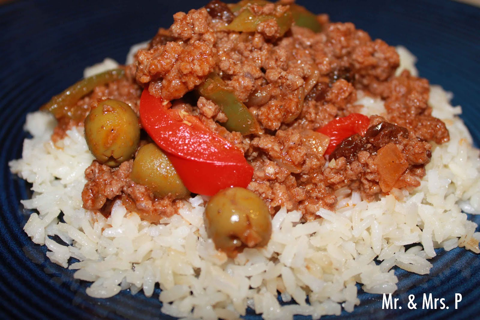 "Mr. & Mrs. P: Cuban Ground Beef Dish: ""Picadillo"""