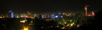Night panorama of the Ekaterinburg center