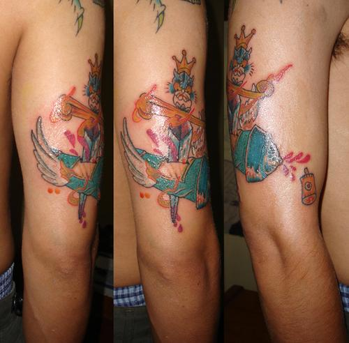 otra vista mas completa del tattoo ke hice ya terminado
