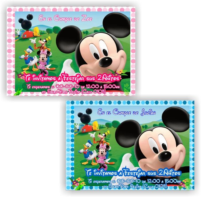 ... souvenirs: Tarjeta Cumpleaños Casa de mickey mouse - cod: cu026