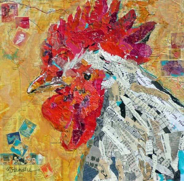 "Nancy Standlee Fine Art: ""Mr. Rooster"" ~ Painted Paper ..."