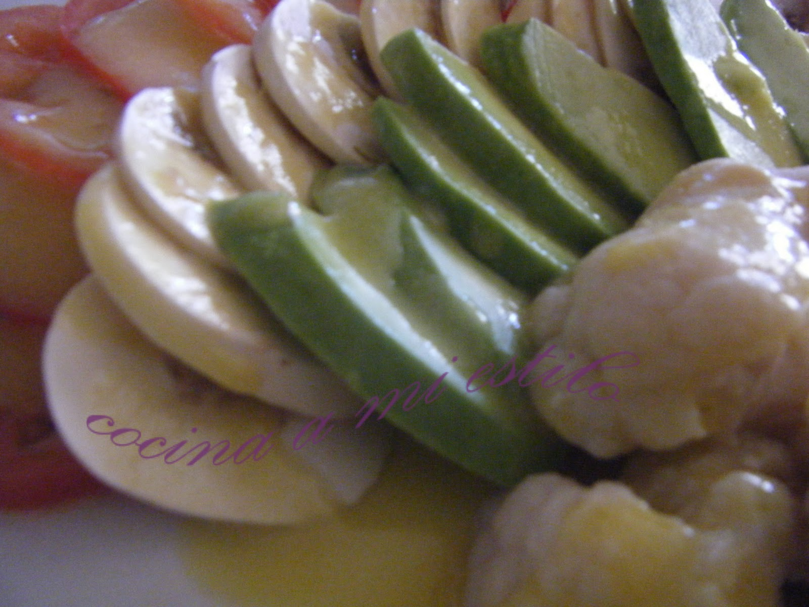 cocina a mi estilo: Ensalada de coliflor y aguacates con vinagreta ...