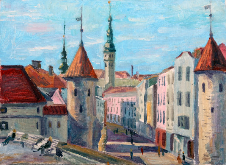 14.Viru street,oil on canvas,33x24,Estonia 2009